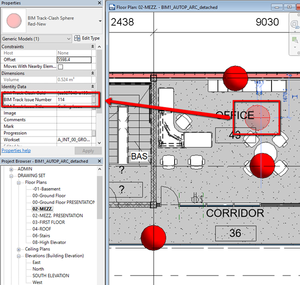 Issue number in BIM Track