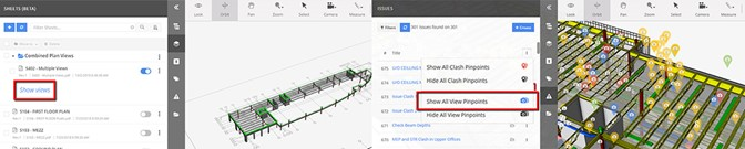Visible clash pinpoints and 2D sheet support in BIM Track