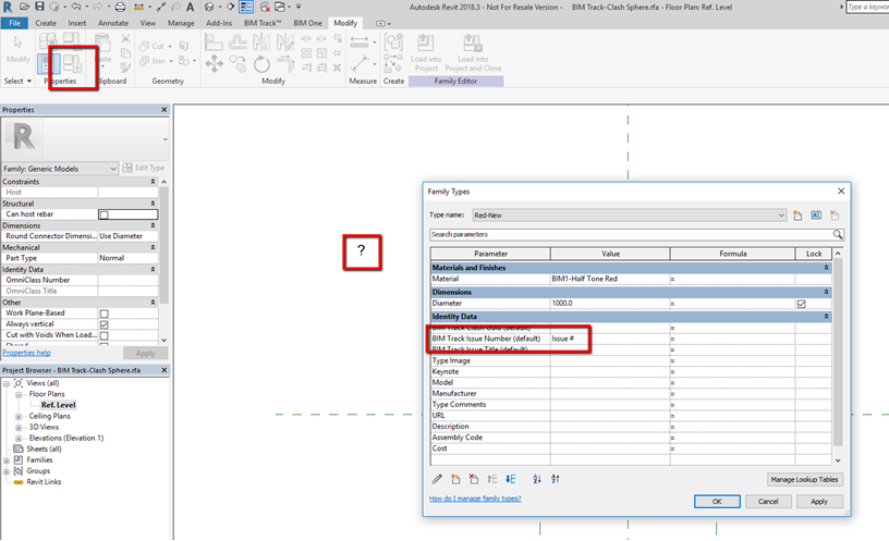 Label annotation in BIM Track