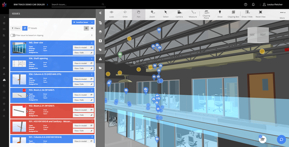 Explore BIM Track's demo hub to test out features and get comfortable using the platform before implementing it on your projects