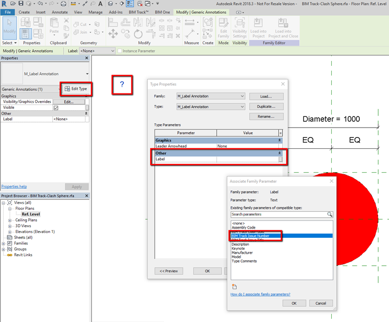 BIM Track How-to: Adding visible issue numbers to clash spheres